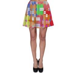 Abstract Polka Dot Pattern Skater Skirt