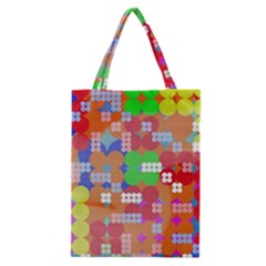 Abstract Polka Dot Pattern Classic Tote Bag