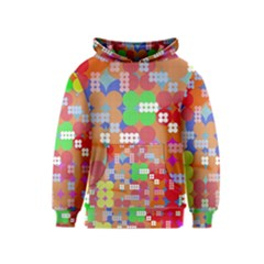 Abstract Polka Dot Pattern Kids  Pullover Hoodie
