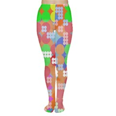 Abstract Polka Dot Pattern Women s Tights