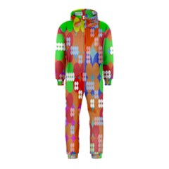 Abstract Polka Dot Pattern Hooded Jumpsuit (kids)