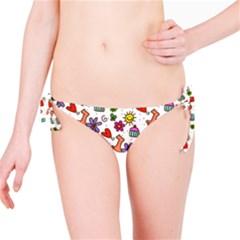 Cute Doodle Wallpaper Pattern Bikini Bottom