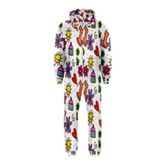 Cute Doodle Wallpaper Pattern Hooded Jumpsuit (Kids)