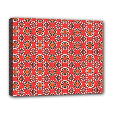 Floral Seamless Pattern Vector Deluxe Canvas 20  X 16