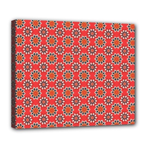 Floral Seamless Pattern Vector Deluxe Canvas 24  X 20