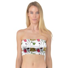 Handmade Pattern With Crazy Flowers Bandeau Top