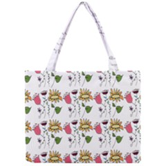 Handmade Pattern With Crazy Flowers Mini Tote Bag