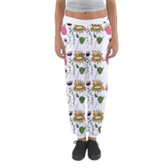 Handmade Pattern With Crazy Flowers Women s Jogger Sweatpants