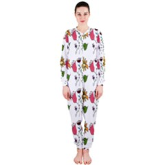 Handmade Pattern With Crazy Flowers Onepiece Jumpsuit (ladies)