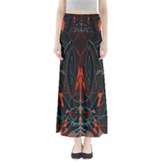 Doodle Art Pattern Background Full Length Maxi Skirt