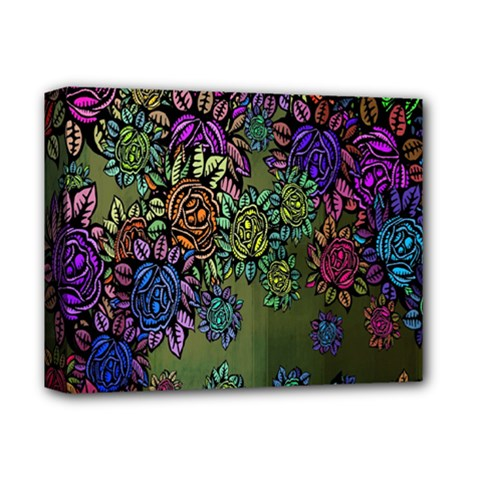 Grunge Rose Background Pattern Deluxe Canvas 14  X 11