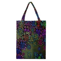 Grunge Rose Background Pattern Classic Tote Bag