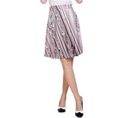 Vintage Pattern Background Wallpaper A Line Skirt