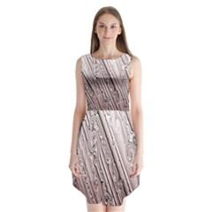 Vintage Pattern Background Wallpaper Sleeveless Chiffon Dress