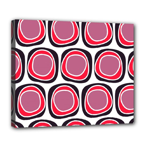 Wheel Stones Pink Pattern Abstract Background Deluxe Canvas 24  X 20