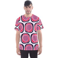 Wheel Stones Pink Pattern Abstract Background Men s Sports Mesh Tee