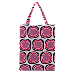 Wheel Stones Pink Pattern Abstract Background Classic Tote Bag