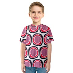 Wheel Stones Pink Pattern Abstract Background Kids  Sport Mesh Tee