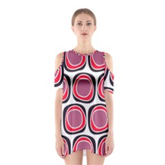 Wheel Stones Pink Pattern Abstract Background Shoulder Cutout One Piece