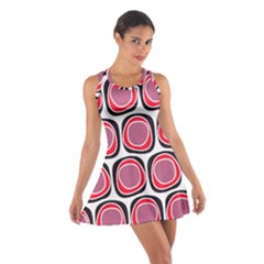 Wheel Stones Pink Pattern Abstract Background Cotton Racerback Dress