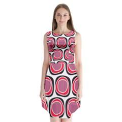 Wheel Stones Pink Pattern Abstract Background Sleeveless Chiffon Dress