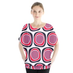 Wheel Stones Pink Pattern Abstract Background Blouse