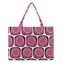 Wheel Stones Pink Pattern Abstract Background Medium Tote Bag