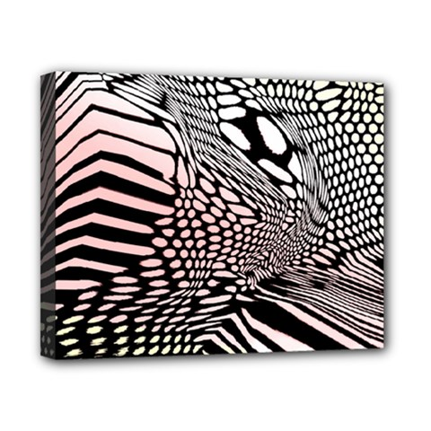 Abstract Fauna Pattern When Zebra And Giraffe Melt Together Canvas 10  X 8