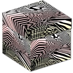 Abstract Fauna Pattern When Zebra And Giraffe Melt Together Storage Stool 12