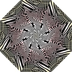 Abstract Fauna Pattern When Zebra And Giraffe Melt Together Hook Handle Umbrellas (Large)