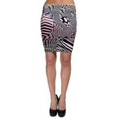 Abstract Fauna Pattern When Zebra And Giraffe Melt Together Bodycon Skirt