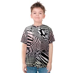 Abstract Fauna Pattern When Zebra And Giraffe Melt Together Kids  Cotton Tee