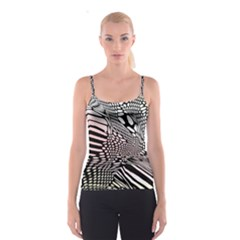 Abstract Fauna Pattern When Zebra And Giraffe Melt Together Spaghetti Strap Top