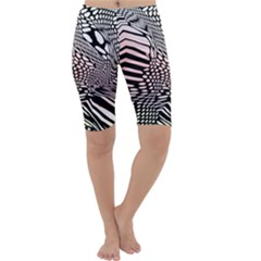 Abstract Fauna Pattern When Zebra And Giraffe Melt Together Cropped Leggings