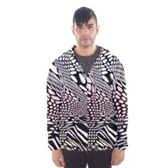 Abstract Fauna Pattern When Zebra And Giraffe Melt Together Hooded Wind Breaker (Men)