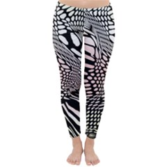 Abstract Fauna Pattern When Zebra And Giraffe Melt Together Classic Winter Leggings