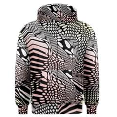 Abstract Fauna Pattern When Zebra And Giraffe Melt Together Men s Zipper Hoodie