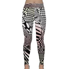 Abstract Fauna Pattern When Zebra And Giraffe Melt Together Classic Yoga Leggings