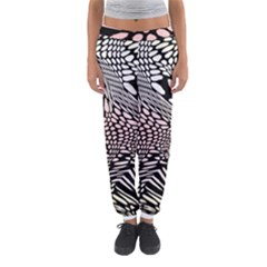 Abstract Fauna Pattern When Zebra And Giraffe Melt Together Women s Jogger Sweatpants
