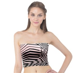 Abstract Fauna Pattern When Zebra And Giraffe Melt Together Tube Top