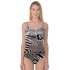 Abstract Fauna Pattern When Zebra And Giraffe Melt Together Camisole Leotard