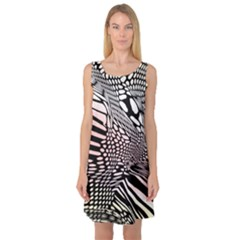 Abstract Fauna Pattern When Zebra And Giraffe Melt Together Sleeveless Satin Nightdress