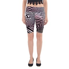 Abstract Fauna Pattern When Zebra And Giraffe Melt Together Yoga Cropped Leggings
