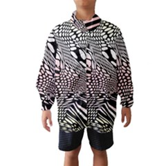 Abstract Fauna Pattern When Zebra And Giraffe Melt Together Wind Breaker (Kids)