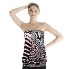 Abstract Fauna Pattern When Zebra And Giraffe Melt Together Strapless Top