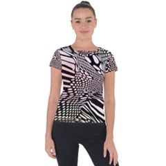 Abstract Fauna Pattern When Zebra And Giraffe Melt Together Short Sleeve Sports Top