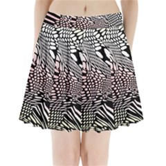 Abstract Fauna Pattern When Zebra And Giraffe Melt Together Pleated Mini Skirt