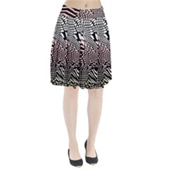 Abstract Fauna Pattern When Zebra And Giraffe Melt Together Pleated Skirt