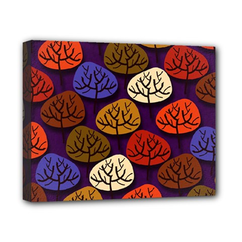 Colorful Trees Background Pattern Canvas 10  x 8