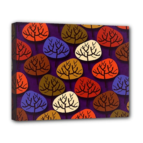 Colorful Trees Background Pattern Deluxe Canvas 20  x 16